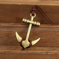 Anchorleather anchor charm bracelet anchor bracelet for by mosnos