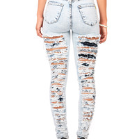 Mass Wreck High Waist Skinnys | Skinny Jeans at Pink Ice