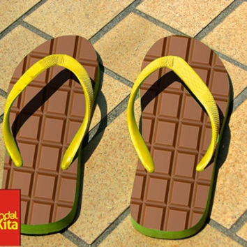 Flip Flops - Brown Chocolate Bar