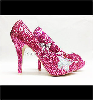 Butterfly Rose Crystal by MDNY Heels