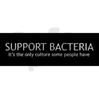 Support Bacteria Bumper Sticker on CafePress.com