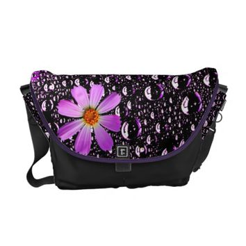 Rain Drops with cosmos flowers Bag
