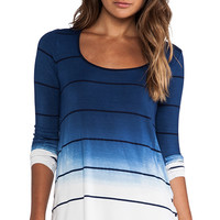 Saint Grace Brit Button Top in Blue