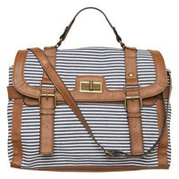 Navy Stripe Satchel