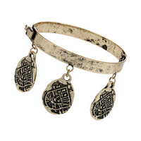 Freedom Found Collection Engraved Disc Bracelet - Gold