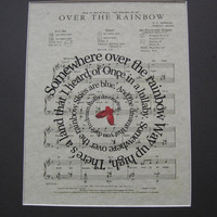 Over The Rainbow Print - Wizard Of Oz- Sheet Music - Spiral Song Lyrics