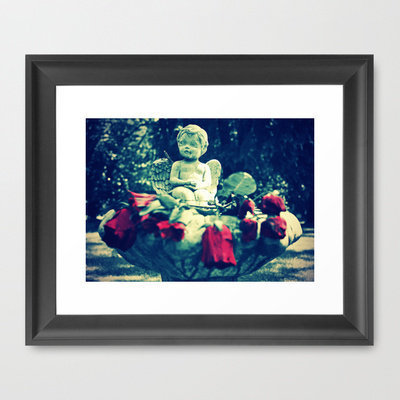 Cherub's roses Framed Art Print by Vorona Photography | Society6