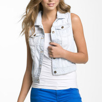 BP. Sleeveless Denim Vest (Juniors) | Nordstrom