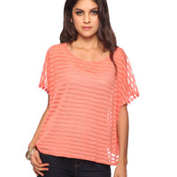 Burnout Stripes Oversize Top