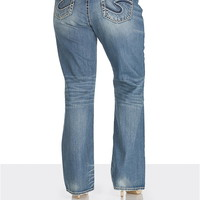 silver jeans co. ® aiko thick stitch plus size jeans