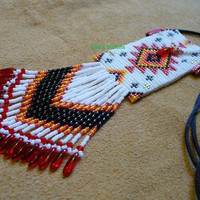 Square stitched Native American inspired Amulet bag