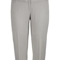smart gray trouser plus size capri