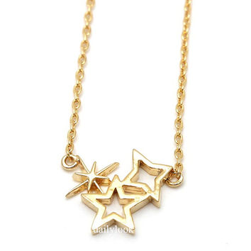 star necklace, shinning star necklace,star, , shining star, pendant necklaces,girls necklaces,unique necklaces,gold necklaces,cute necklace