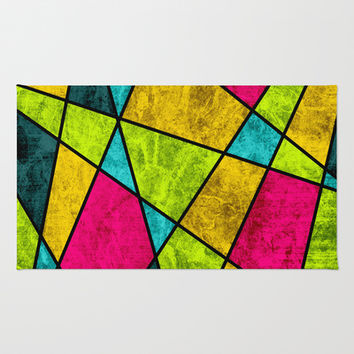 Color glass Area & Throw Rug by eDrawings38 | Society6