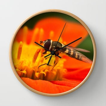 Native Pollinators 1 Wall Clock by Legends of Darkness Photography