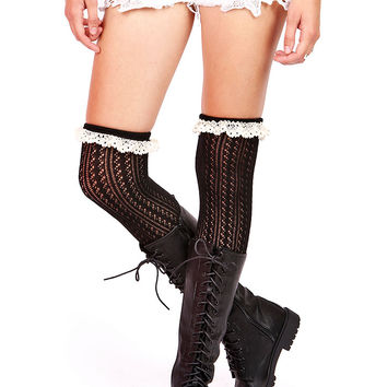 Frilly+Knit+Thigh+High+Socks