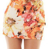FLORAL SKIRT @ KiwiLook fashion