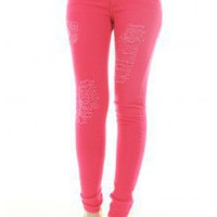 DESTROYED COLORED SKINNY JEAN @ KiwiLook fashion