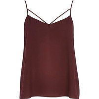 River Island Womens Dark red strappy cami top