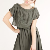 STUD DETAILED WOVEN DRESS @ KiwiLook fashion