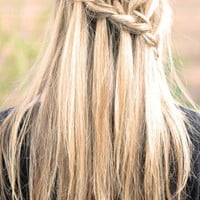 ...love Maegan: * Partial French Braid  Cascading Hair Tutorial *also known as