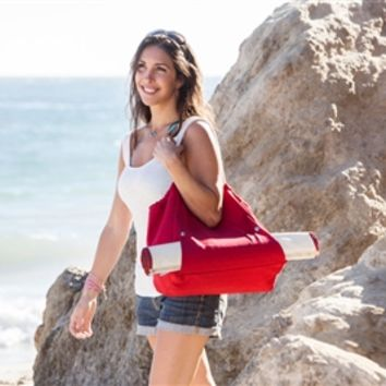 SheilaShrubs.com: Cabo Beach Tote and Mat - Red 638-00-100-000-0 by Picnic Time : Beach Mats