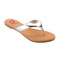GLOSSY THONG SANDALS @ KiwiLook fashion
