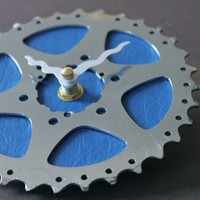 blueberry recycled bike clock by 1byliz on Etsy