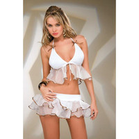 White Babydoll With Frill [TOQ120322018] - £10.59 :