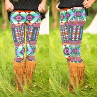Hit The Road Patterned Leggings