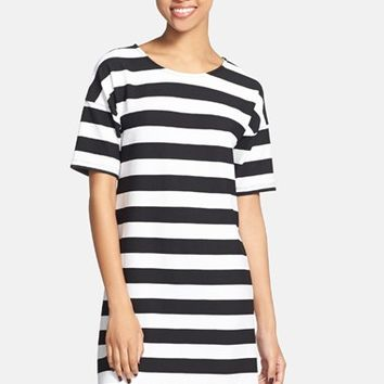 Painted Threads Stripe Shift Dress (Juniors)