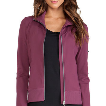 alo Warrior Jacket in Wine
