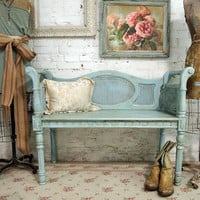 Painted Cottage Chic Shabby Aqua Chic French by paintedcottages