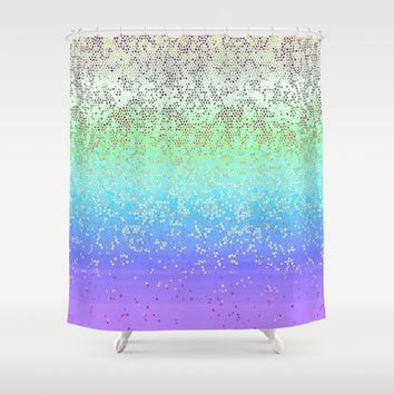 Glitter Star Dust G242 Shower Curtain by MedusArt