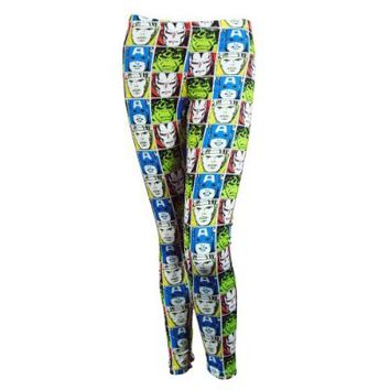 Freeze Womens Marvel Comics Faces Leggings