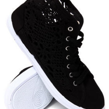 Crochet Detail Lace Up Sneakers