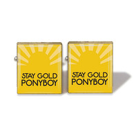 Scrabble Tile Cuff Links Stay Gold Pnyboy Cuff Links Outsiders Cuff Links (A963C)