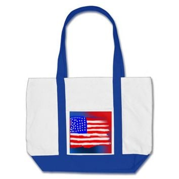 Abstract American Flag Beach Tote