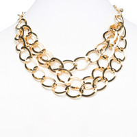 Triple Row Chain Necklace | Wet Seal