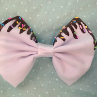 Melting Ice Cream Hairbow with Chocolate Sauce and Sprinkles! Fairy Kei, Decora, Cute, Kitsch, Kawaii, Scene, Hair Bow, Sweets, Candy,