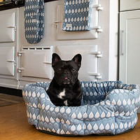 Organic Cotton Blue Allium Pet Bed