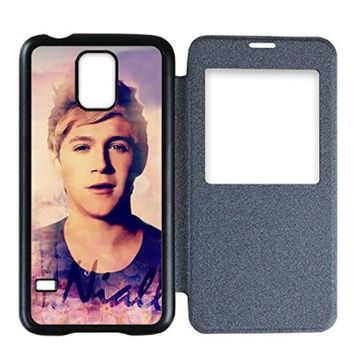 Smasung Galaxy S 5 Flip Cover,Galaxy S5 Folio Case with View Window Flip Back shell with One Direction style designed by Coolphonecases