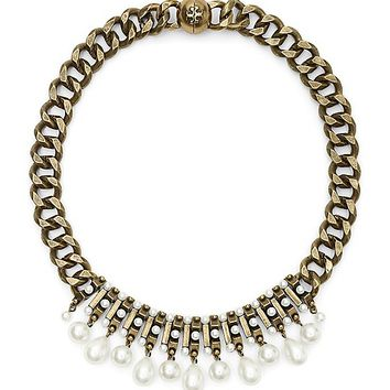 Tory Burch MARLOW PEARL LINK NECKLACE