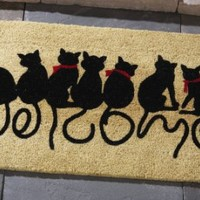 Welcome Kitties Front Door Doormat