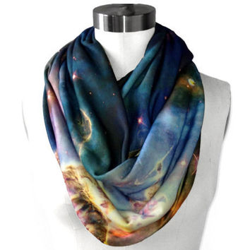 Mystic Mountain Nebula Circle Scarf