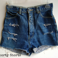 High Waisted Shorts Distressed Ripped Denim Jean Shorts Festival Wear Summer Clothing