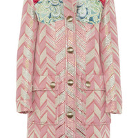 Miu Miu - Metallic jacquard coat