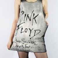 PINK FLOYD Another Brick In The Wall Music Shirt Women Tank Top Tunic Top Shirt Black Shirt Singlet Vest Sleeveless Screen Print Size S M