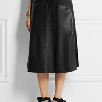 Pedro del Hierro Madrid - Leather midi skirt