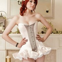 Nicole Gill Welcome to the Tea Party Charlotte Skirt Corset - Corsets from Glamorous Amorous UK